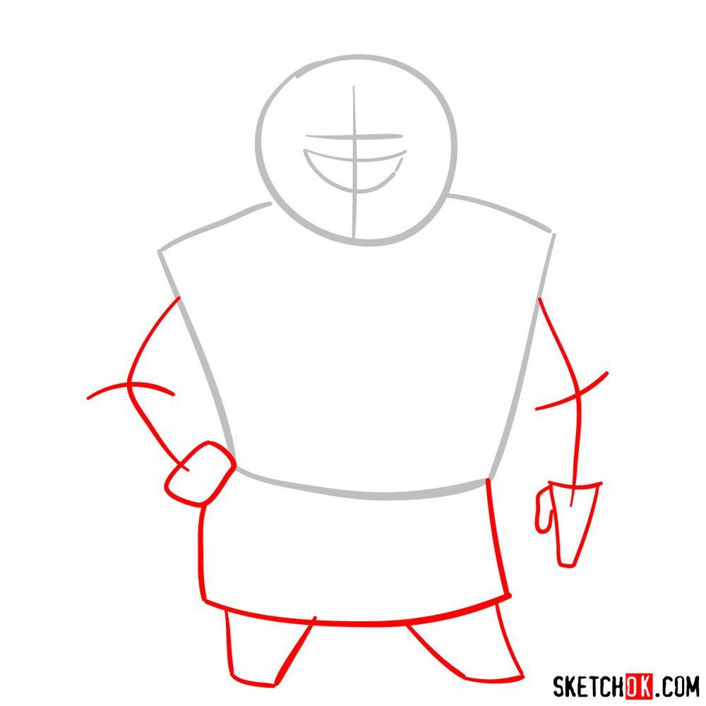 How to draw Mrs. Bentina Beakley - step 02