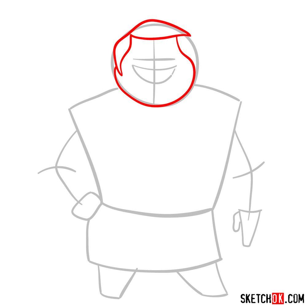 How to draw Mrs. Bentina Beakley - step 03