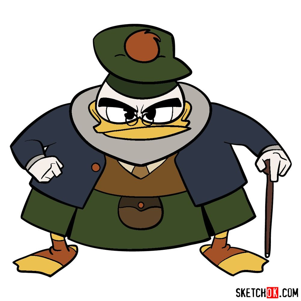 How to draw Flintheart Glomgold