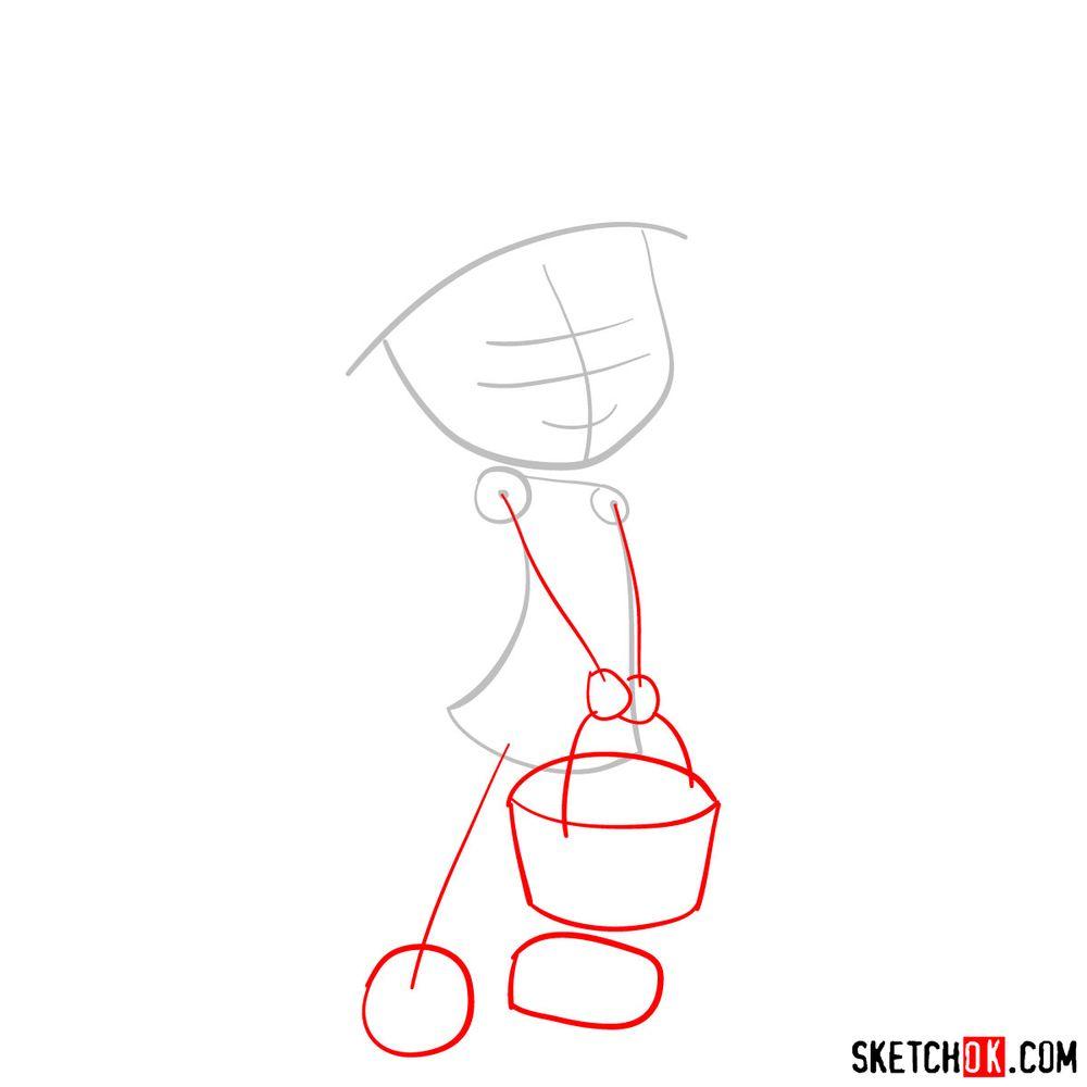 How to draw Strawberry Shortcake (2009) - step 02