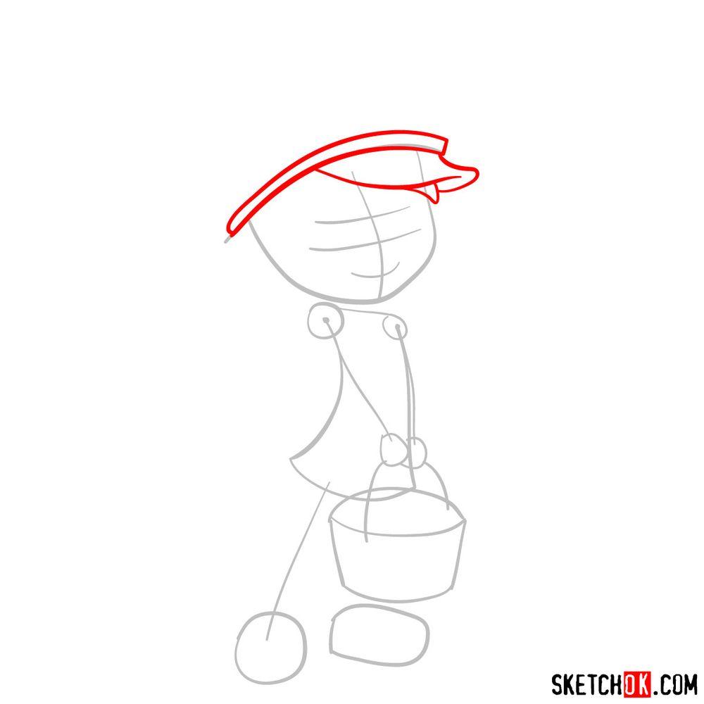 How to draw Strawberry Shortcake (2009) - step 03