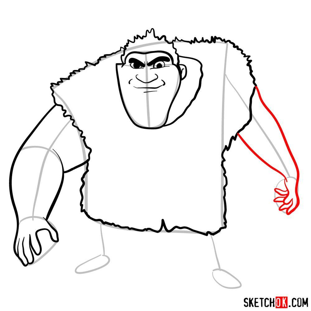 How to draw Grug Crood - step 08