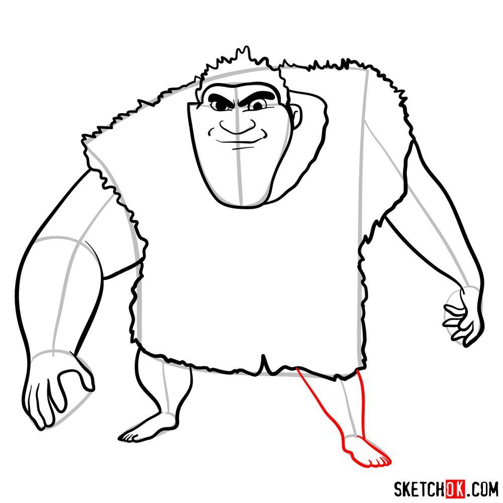 How to draw Grug Crood - step 10