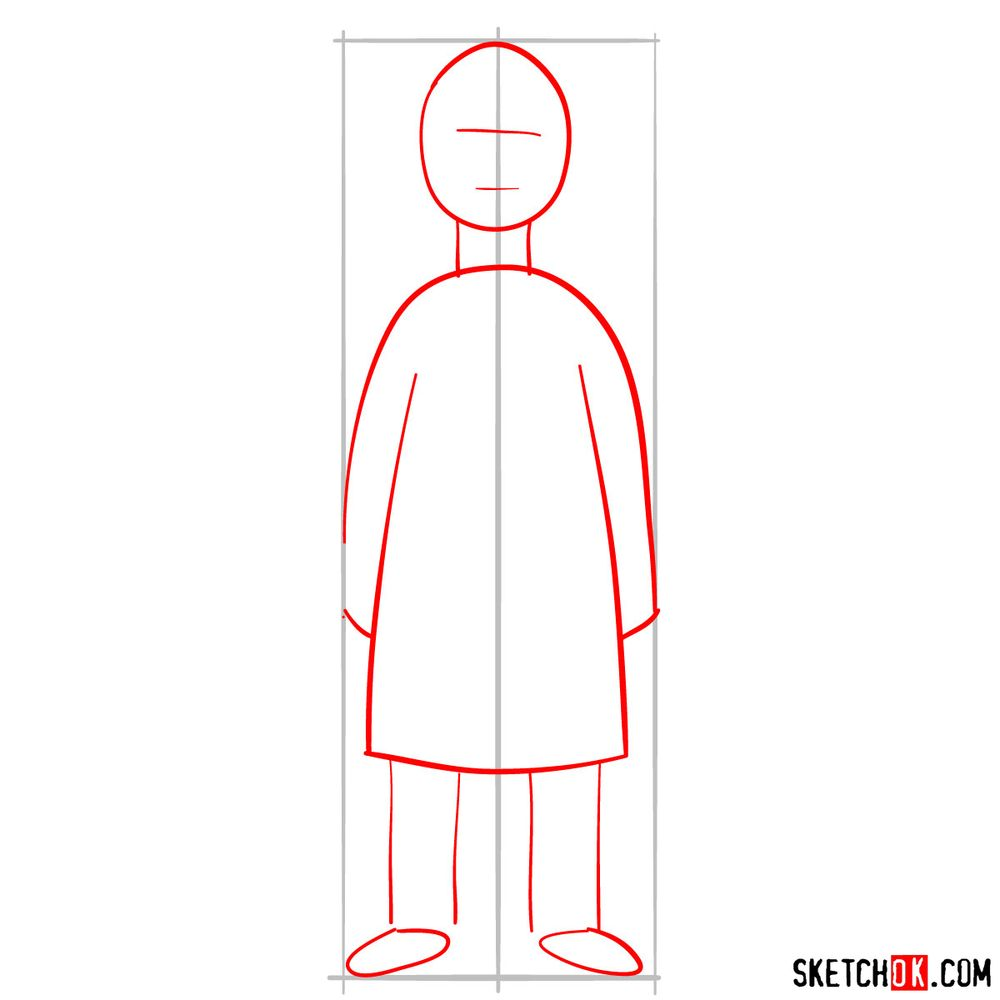 How to draw Bob Belcher - step 02