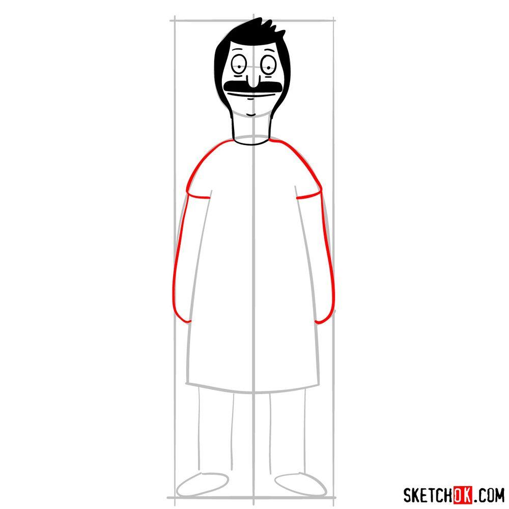 How to draw Bob Belcher - step 06