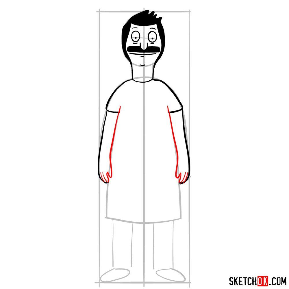 How to draw Bob Belcher - step 07