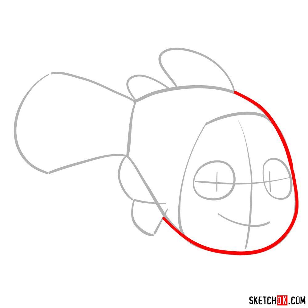 How to draw Nemo - step 03
