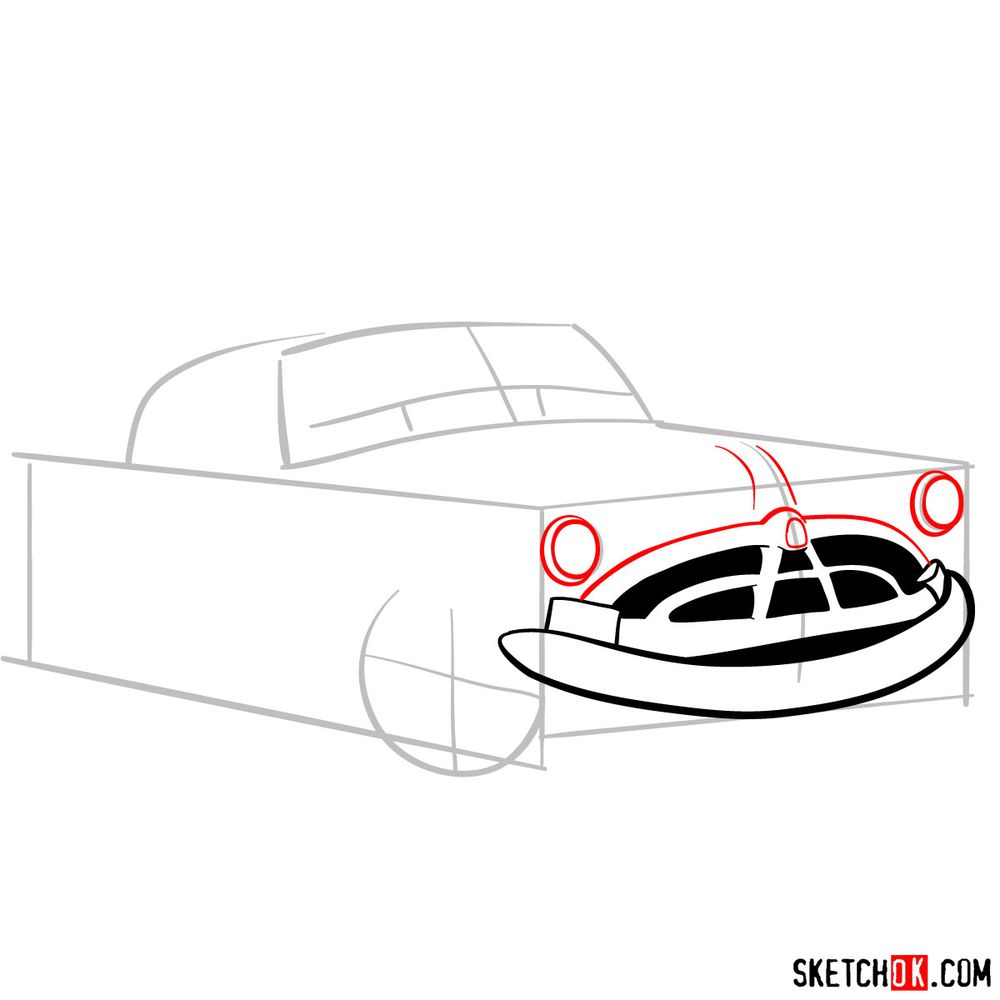 How to draw Doc Hudson | Cars - step 05