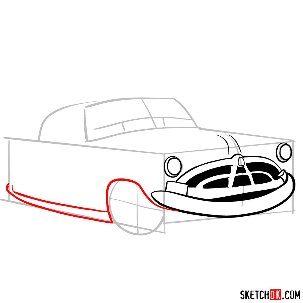 How to draw Doc Hudson | Cars - step 06