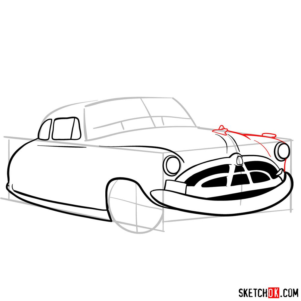How to draw Doc Hudson | Cars - step 08