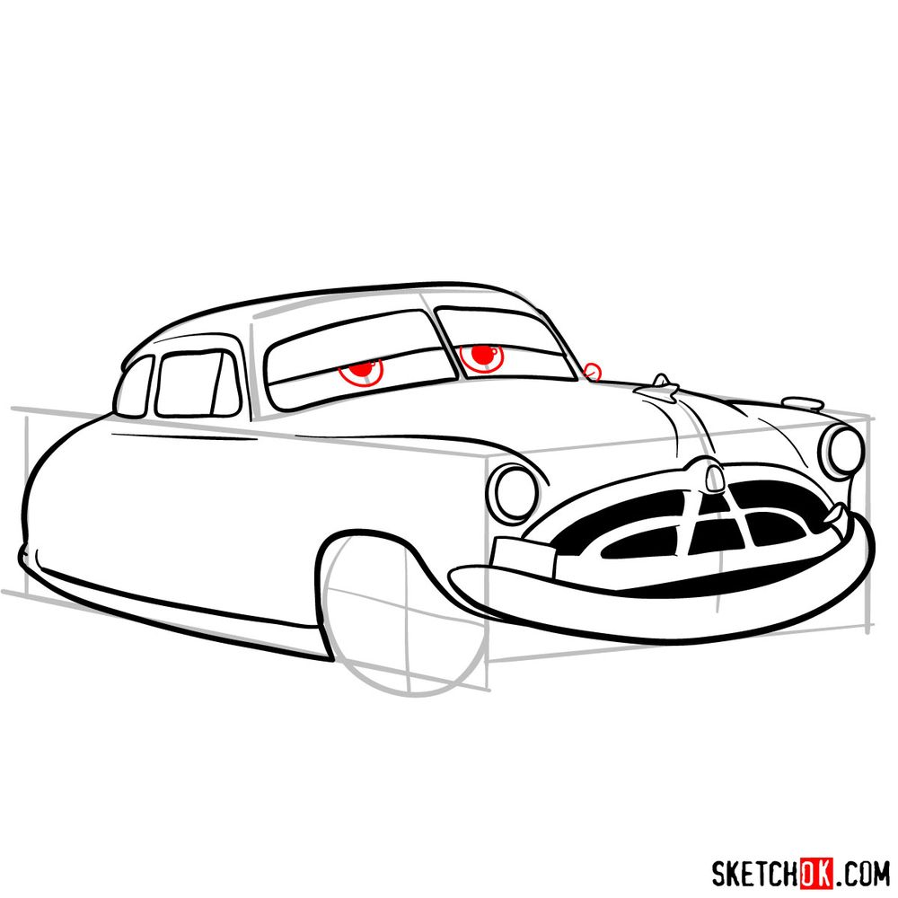 How to draw Doc Hudson | Cars - step 11