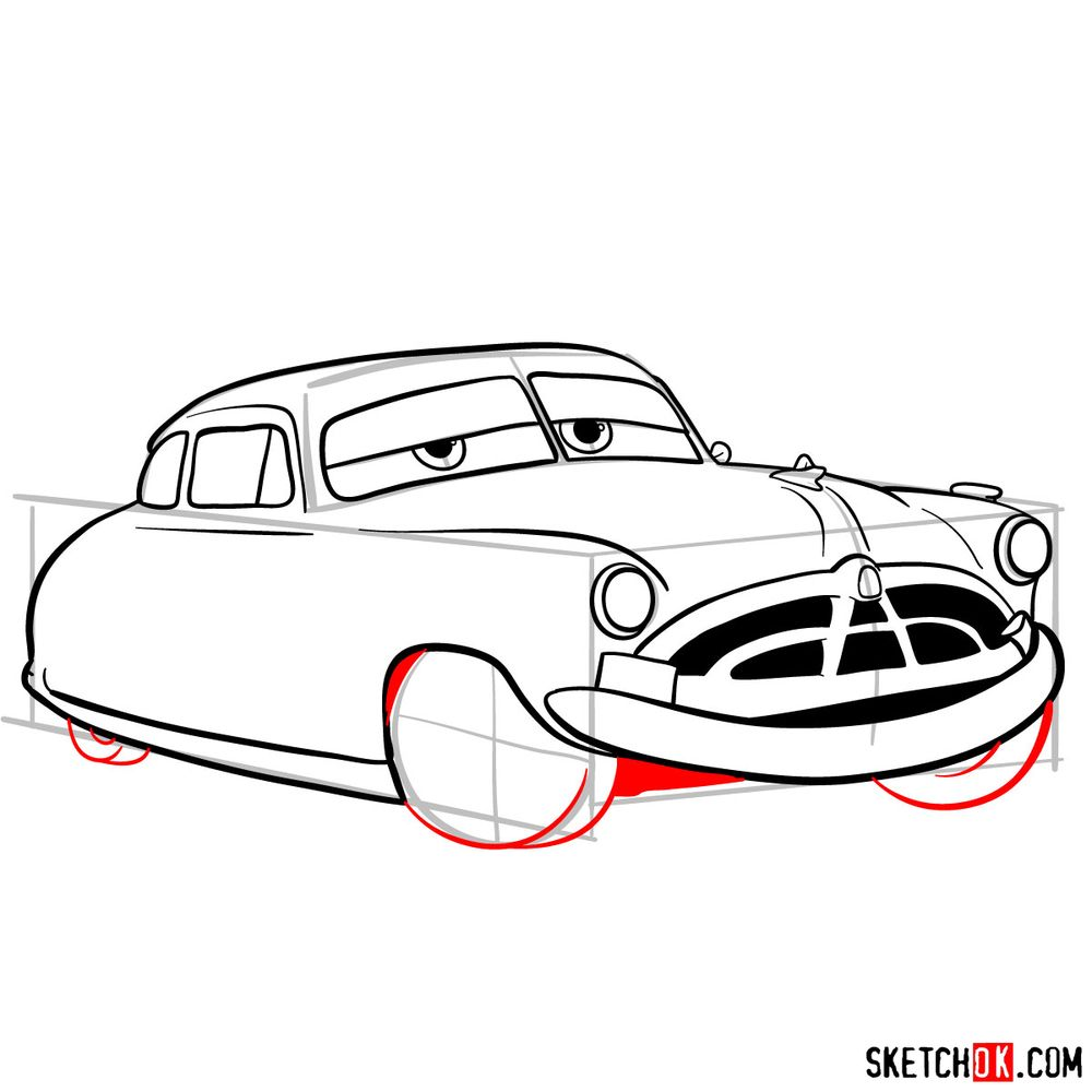 How to draw Doc Hudson | Cars - step 12