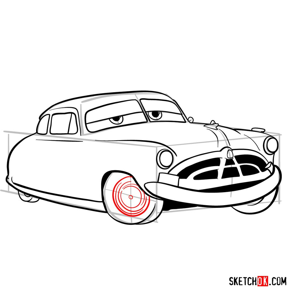 How to draw Doc Hudson | Cars - step 13