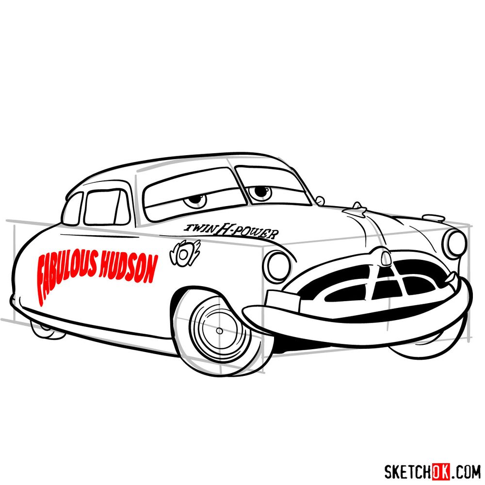 How to draw Doc Hudson | Cars - step 15