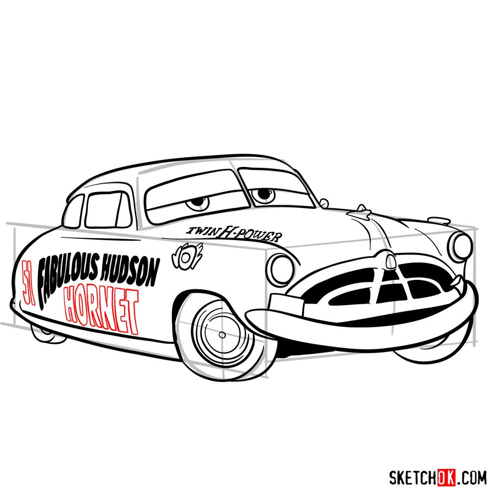 How to draw Doc Hudson | Cars - step 16