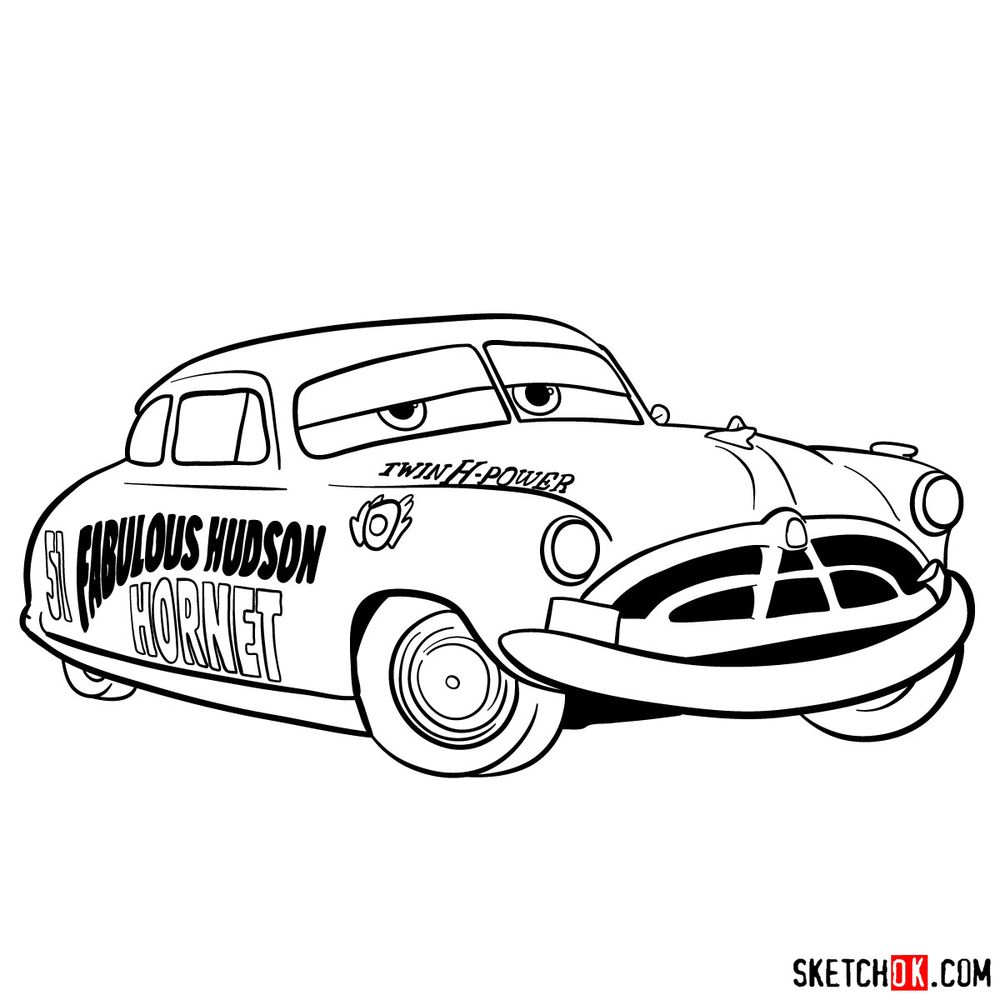 How to draw Doc Hudson | Cars