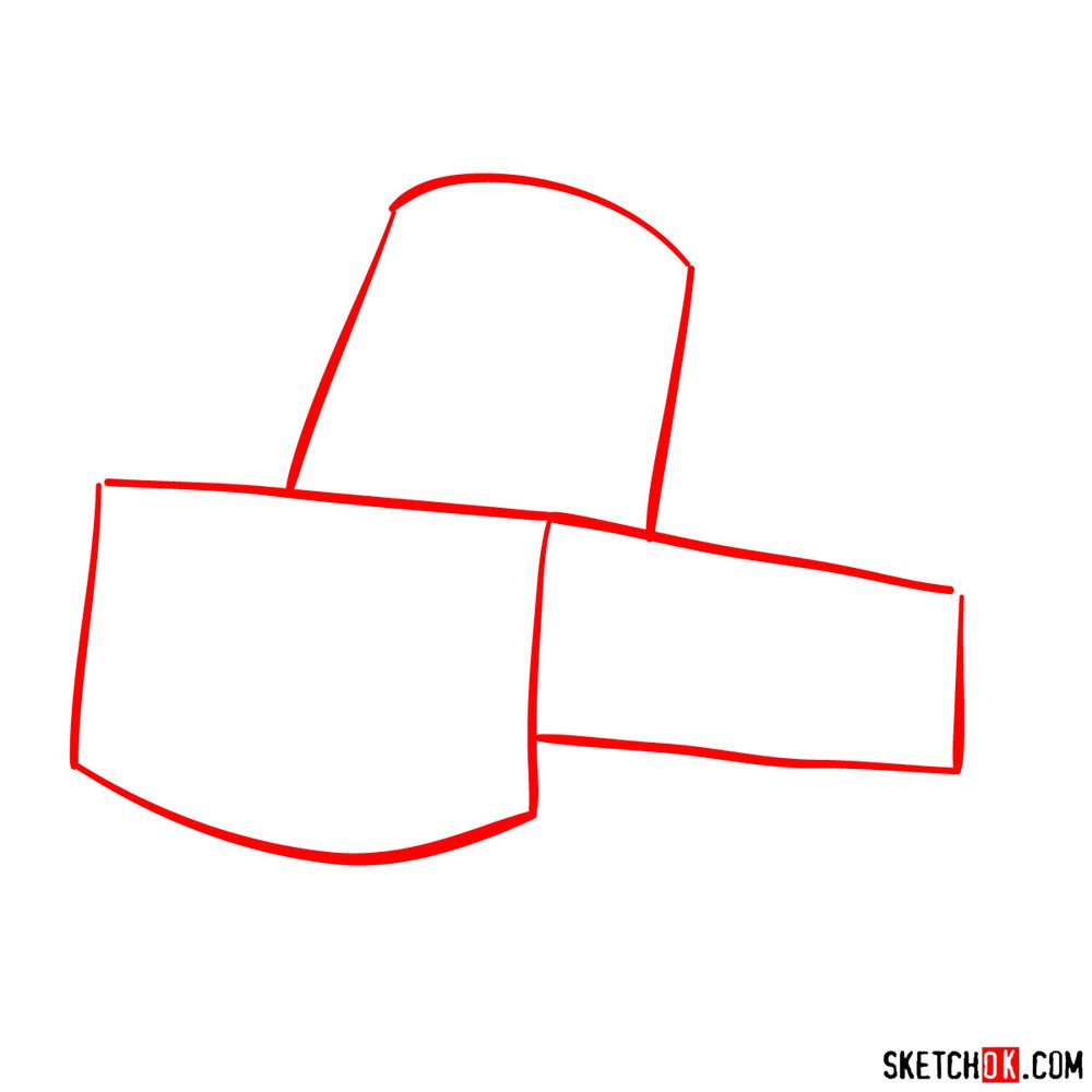 How to draw Tow Mater from Pixar Cars - step 01