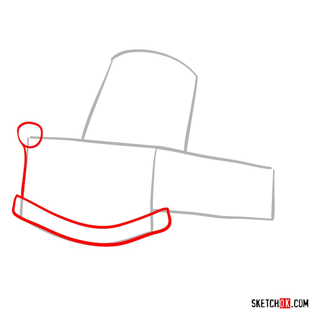 How to draw Tow Mater from Pixar Cars - step 02