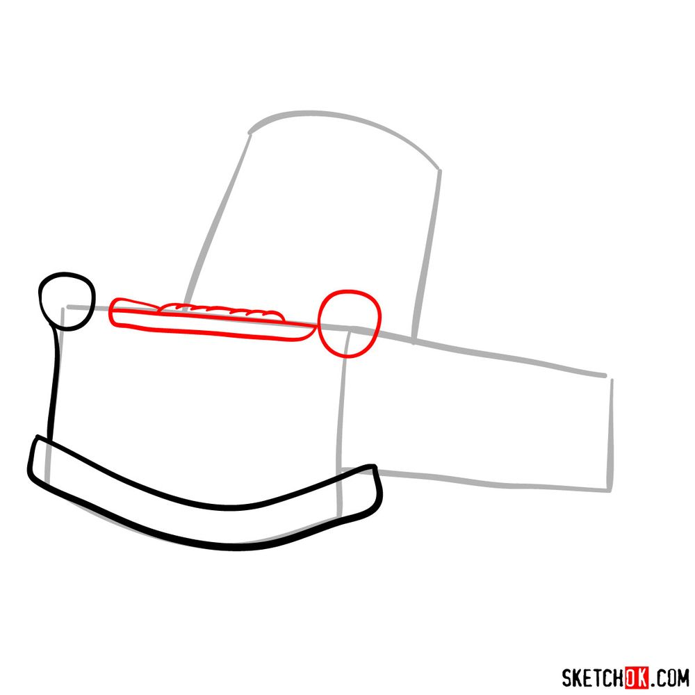 How to draw Tow Mater from Pixar Cars - step 03