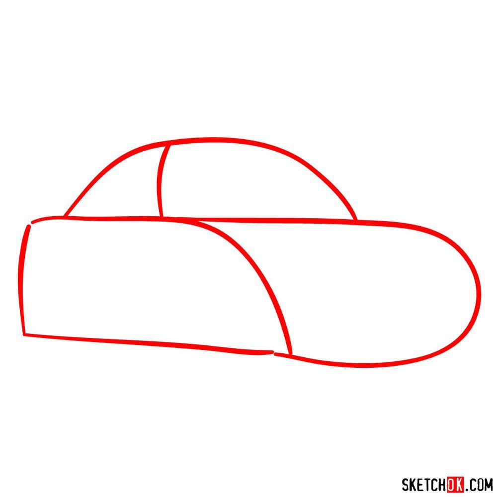 How to draw Sally Carrera - step 01