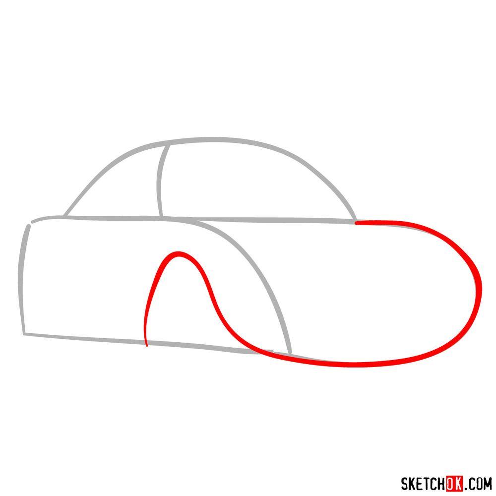 How to draw Sally Carrera - step 02