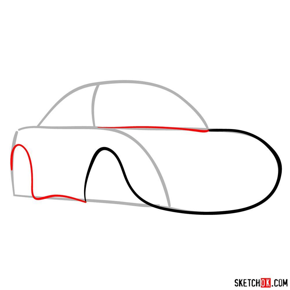 How to draw Sally Carrera - step 03