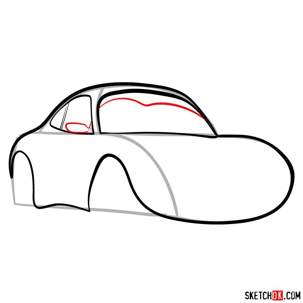 How to draw Sally Carrera - step 07