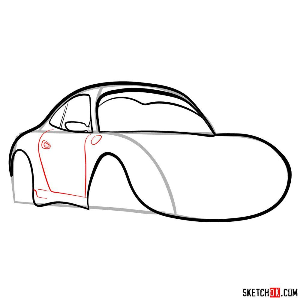 How to draw Sally Carrera - step 08