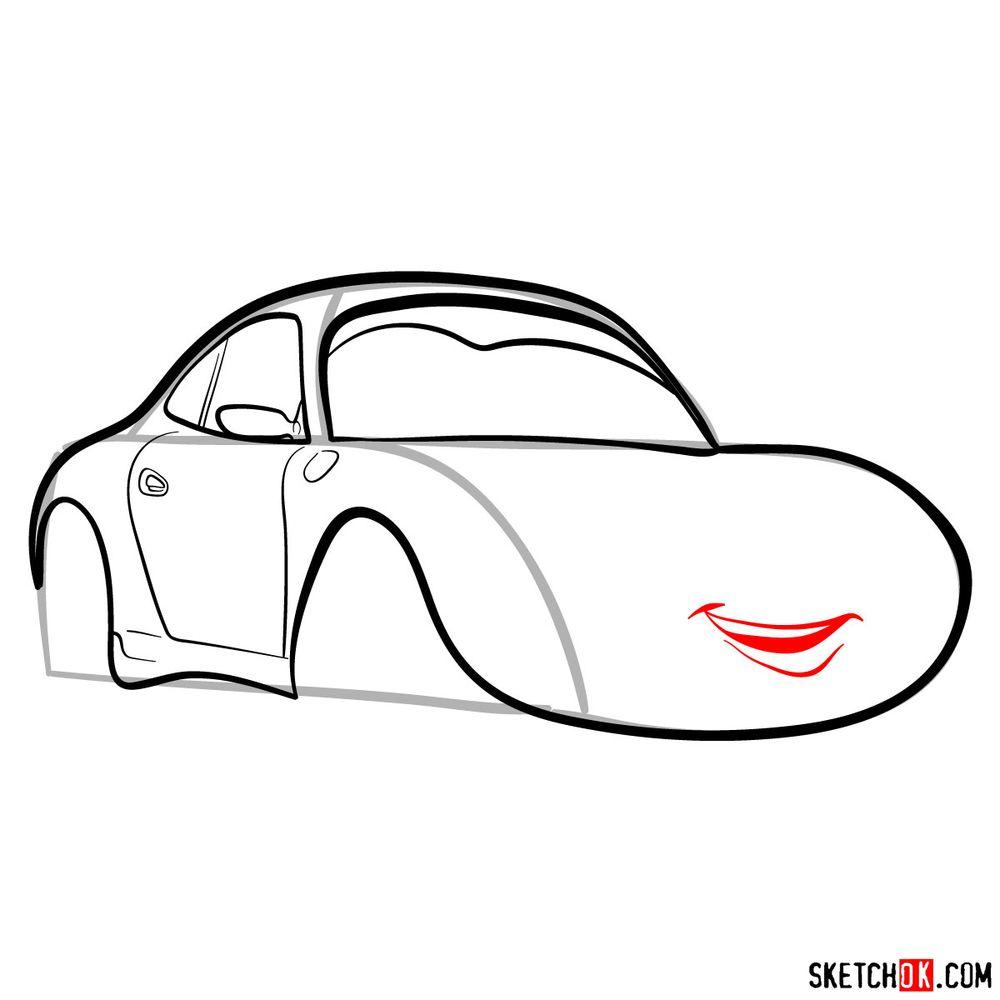 How to draw Sally Carrera - step 09