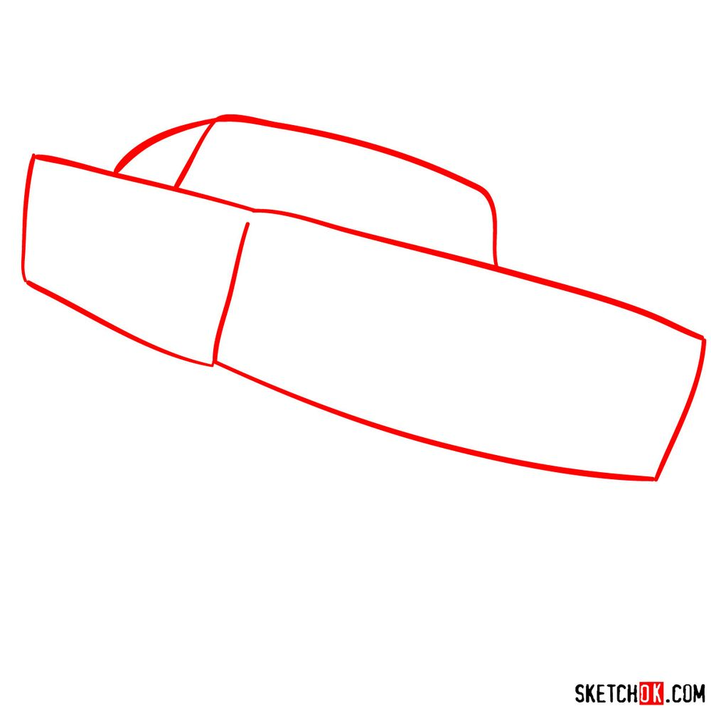 How to draw Ramone from Pixar Cars - step 01