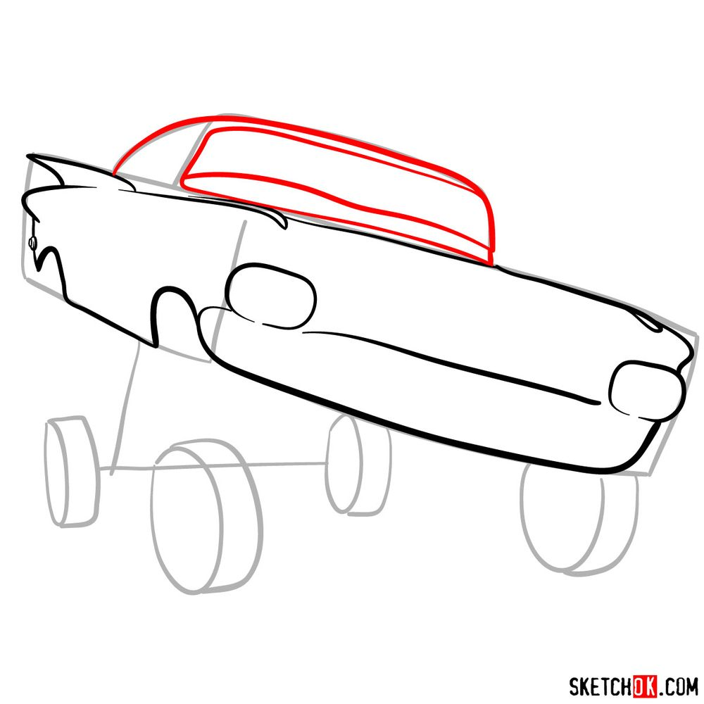 How to draw Ramone from Pixar Cars - step 06