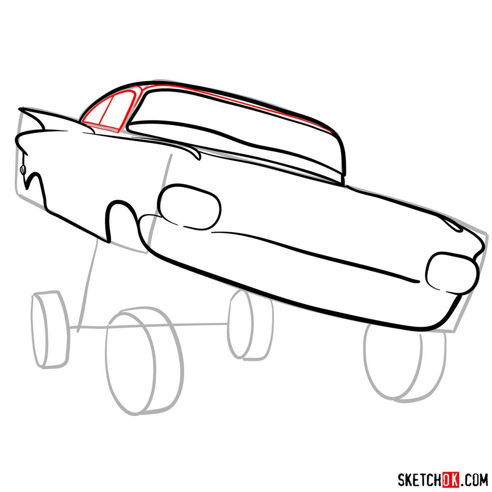 How to draw Ramone from Pixar Cars - step 07