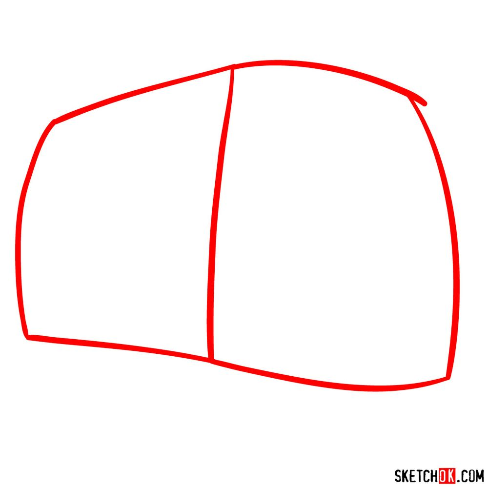 How to draw Fillmore from Pixar Cars - step 01
