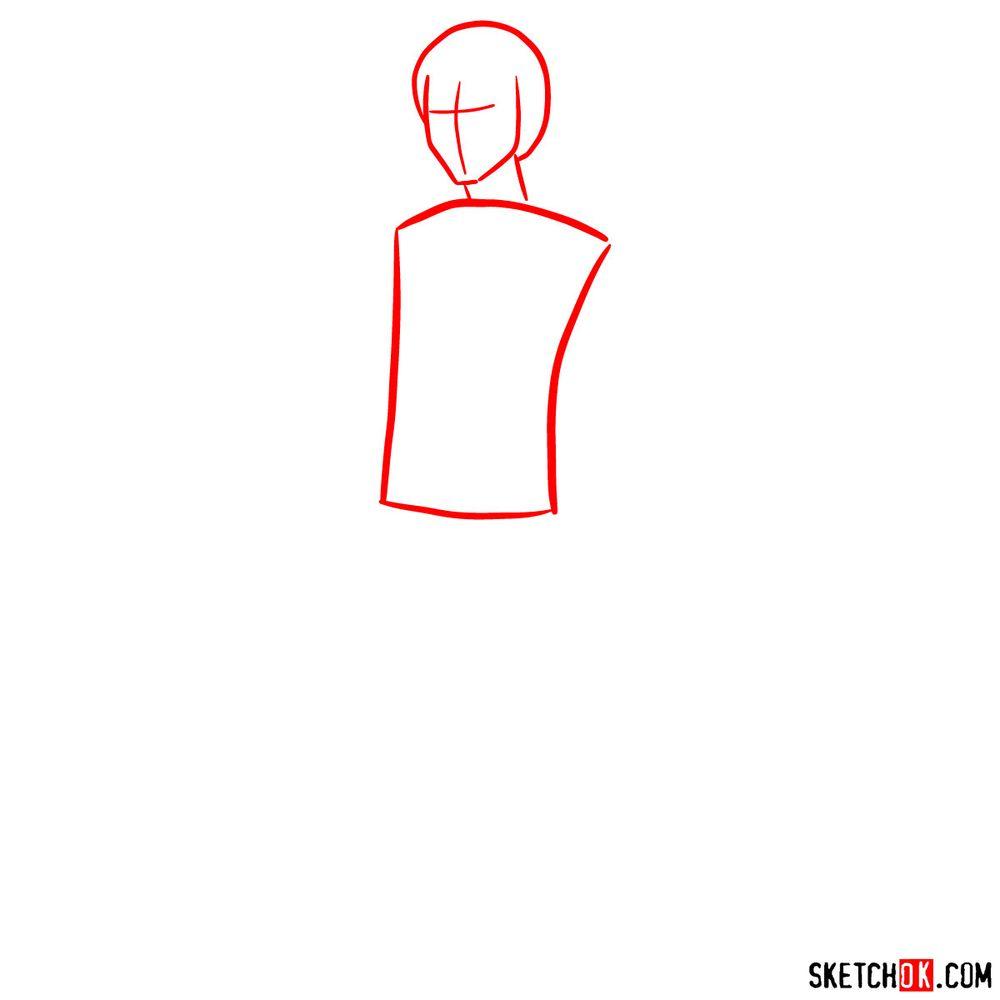 How to draw Callum - step 01