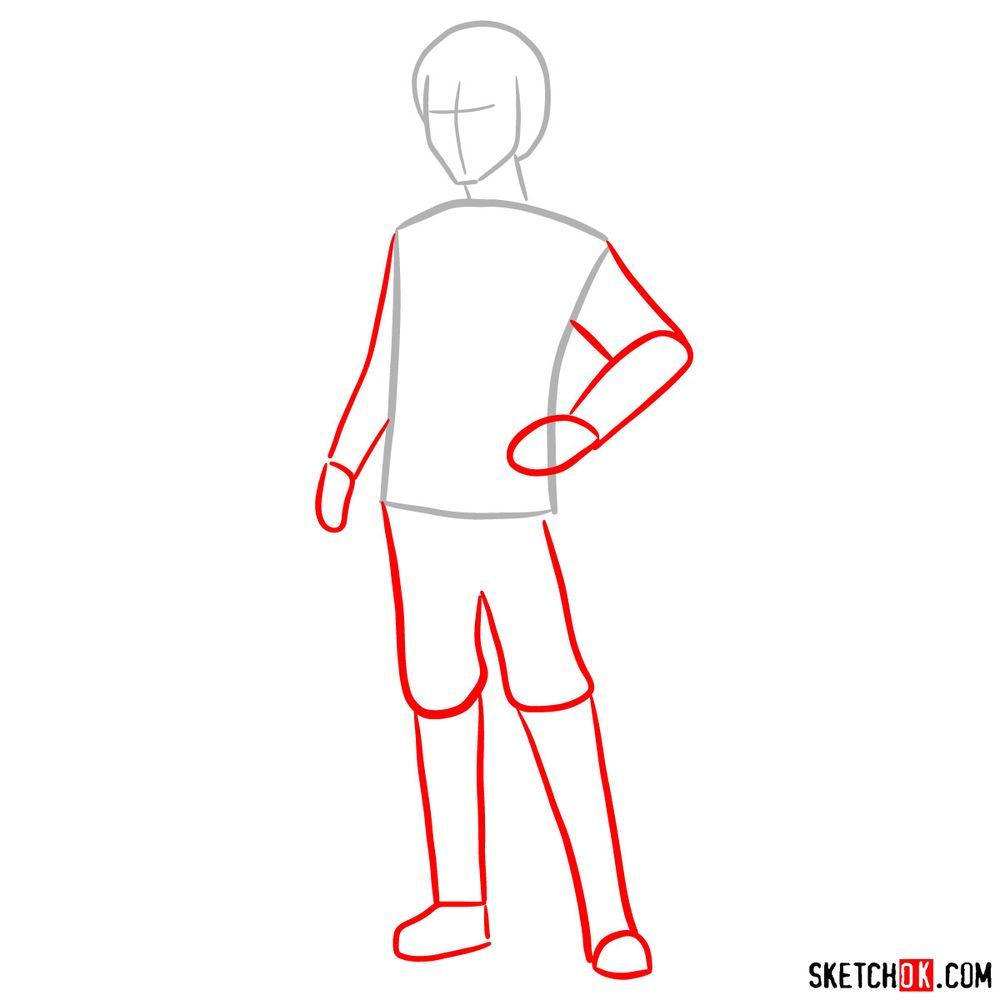 How to draw Callum - step 02