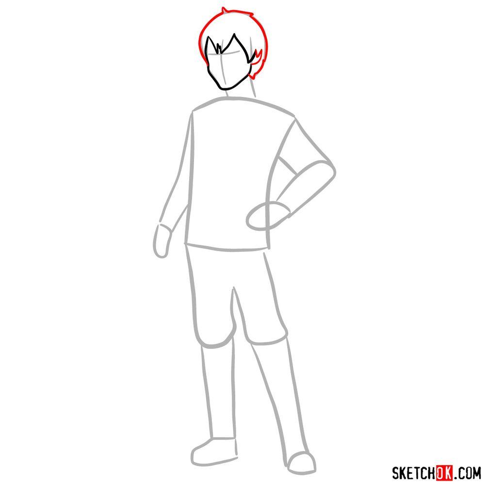 How to draw Callum - step 04