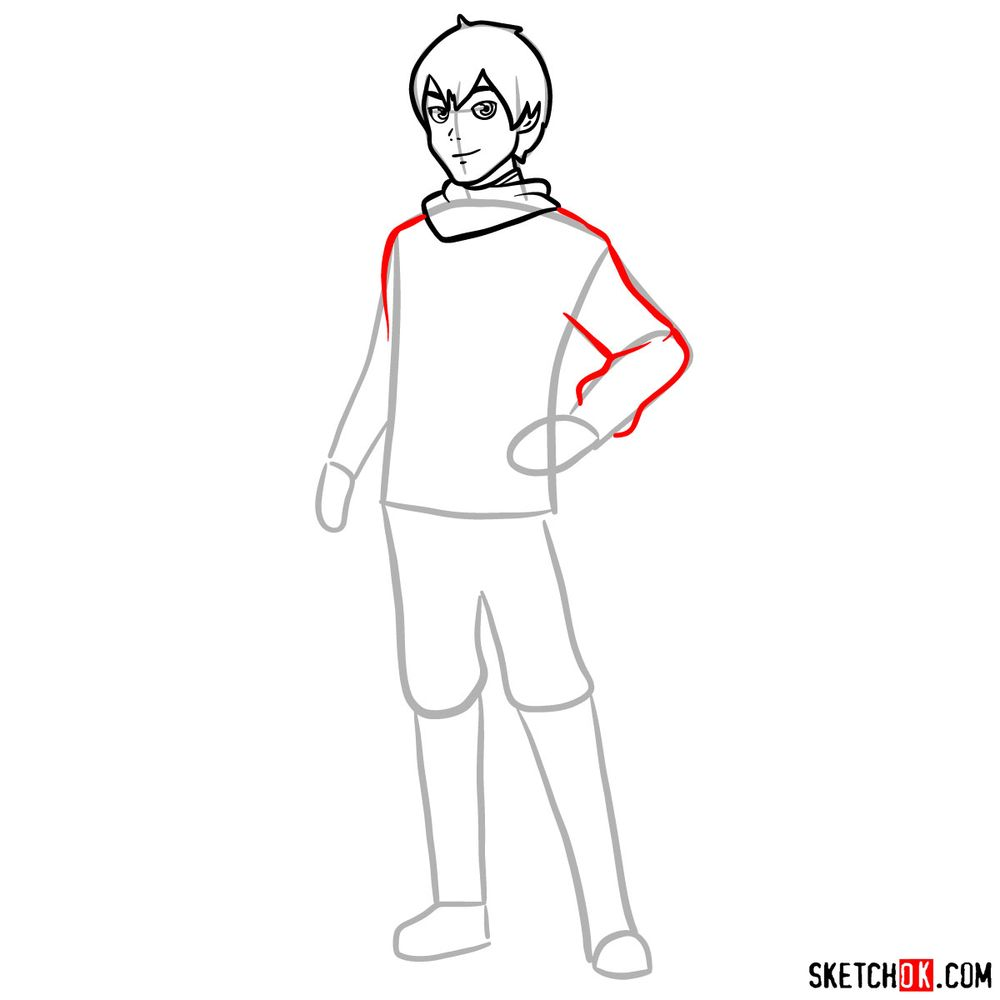 How to draw Callum - step 07