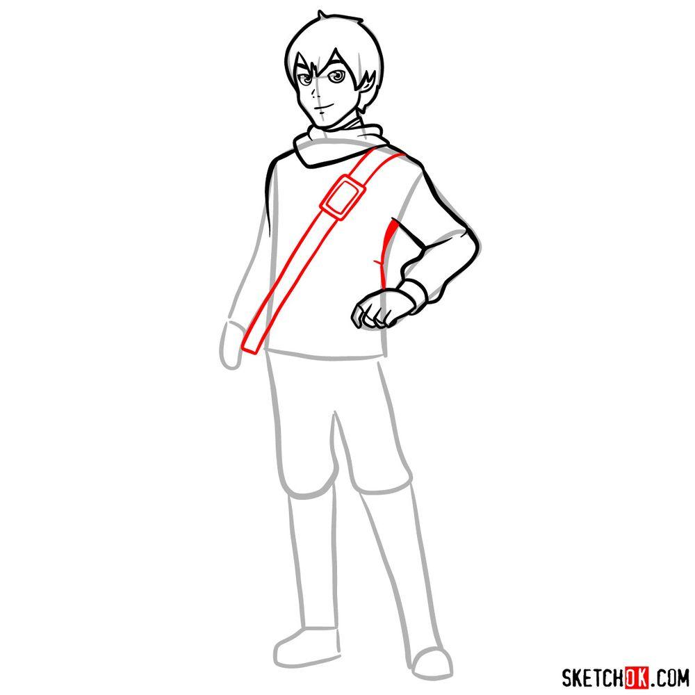 How to draw Callum - step 09