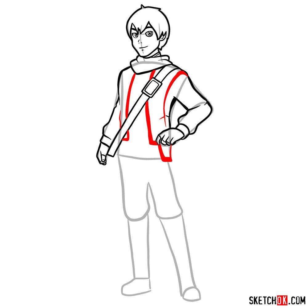 How to draw Callum - step 11