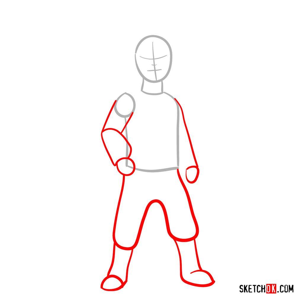 How to draw Ezran - step 02