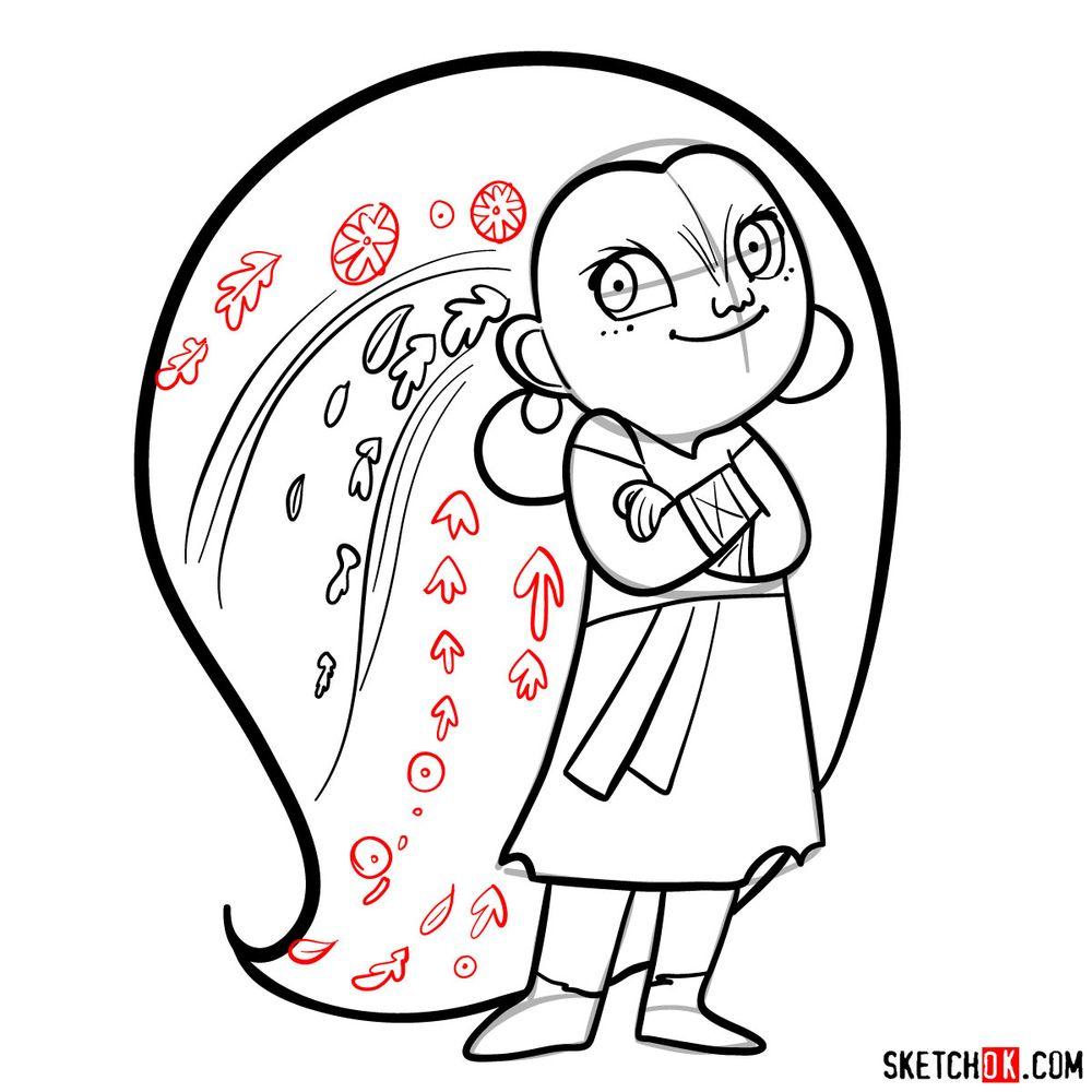 How to draw Mebh Og MacTire - step 14