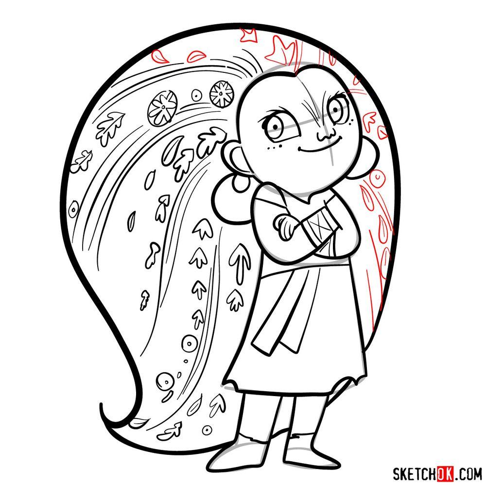 How to draw Mebh Og MacTire - step 16