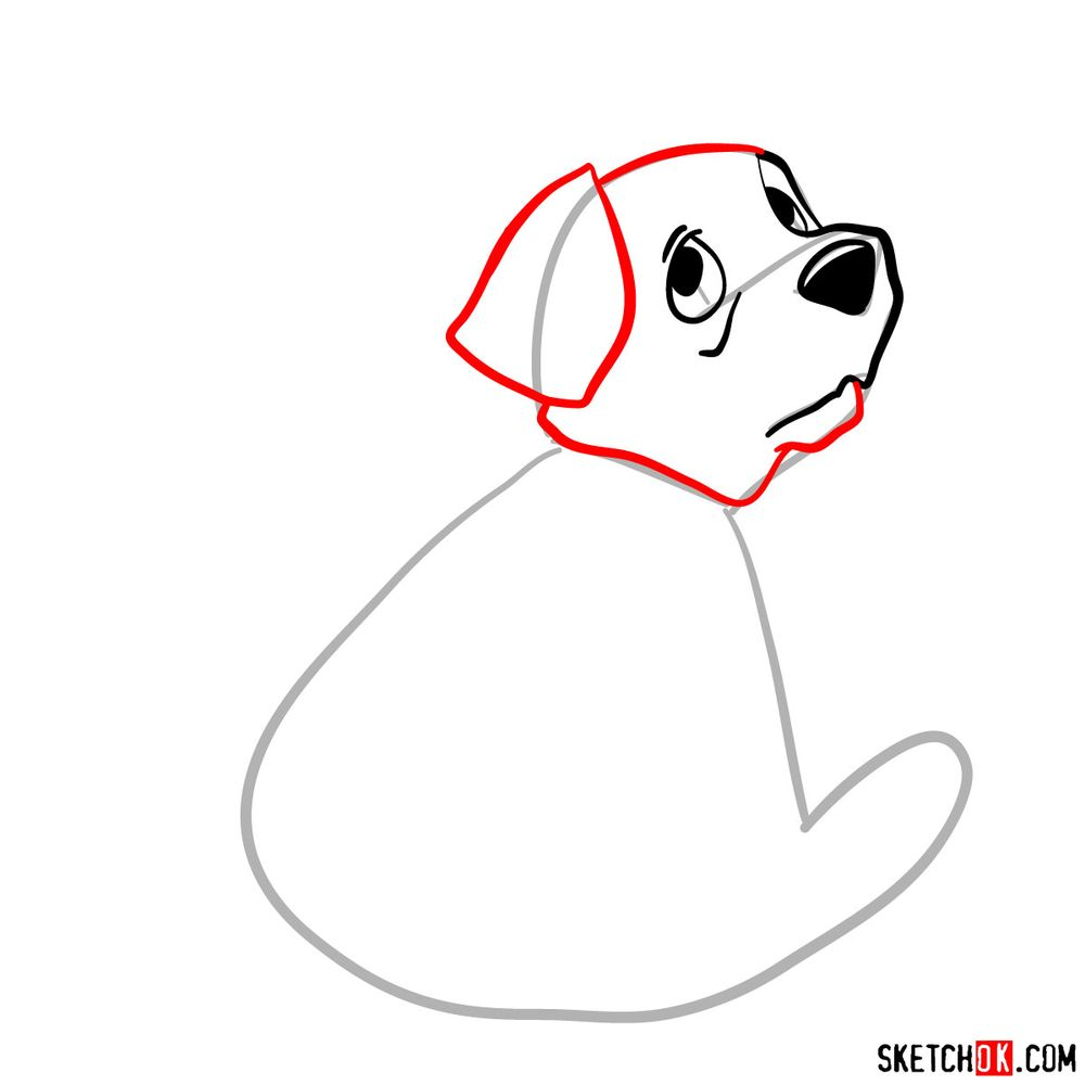 How to draw Rolly from 101 Dalmatians - step 04