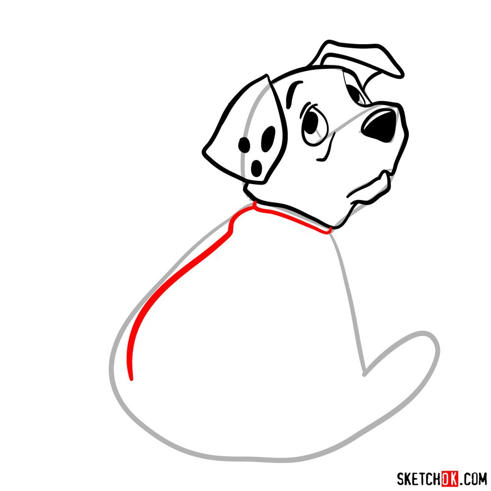 How to draw Rolly from 101 Dalmatians - step 06