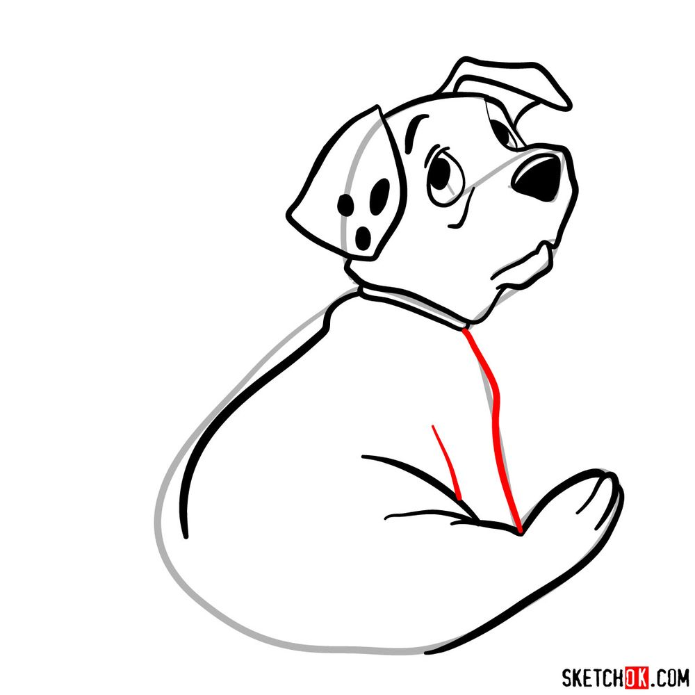 How to draw Rolly from 101 Dalmatians - step 08