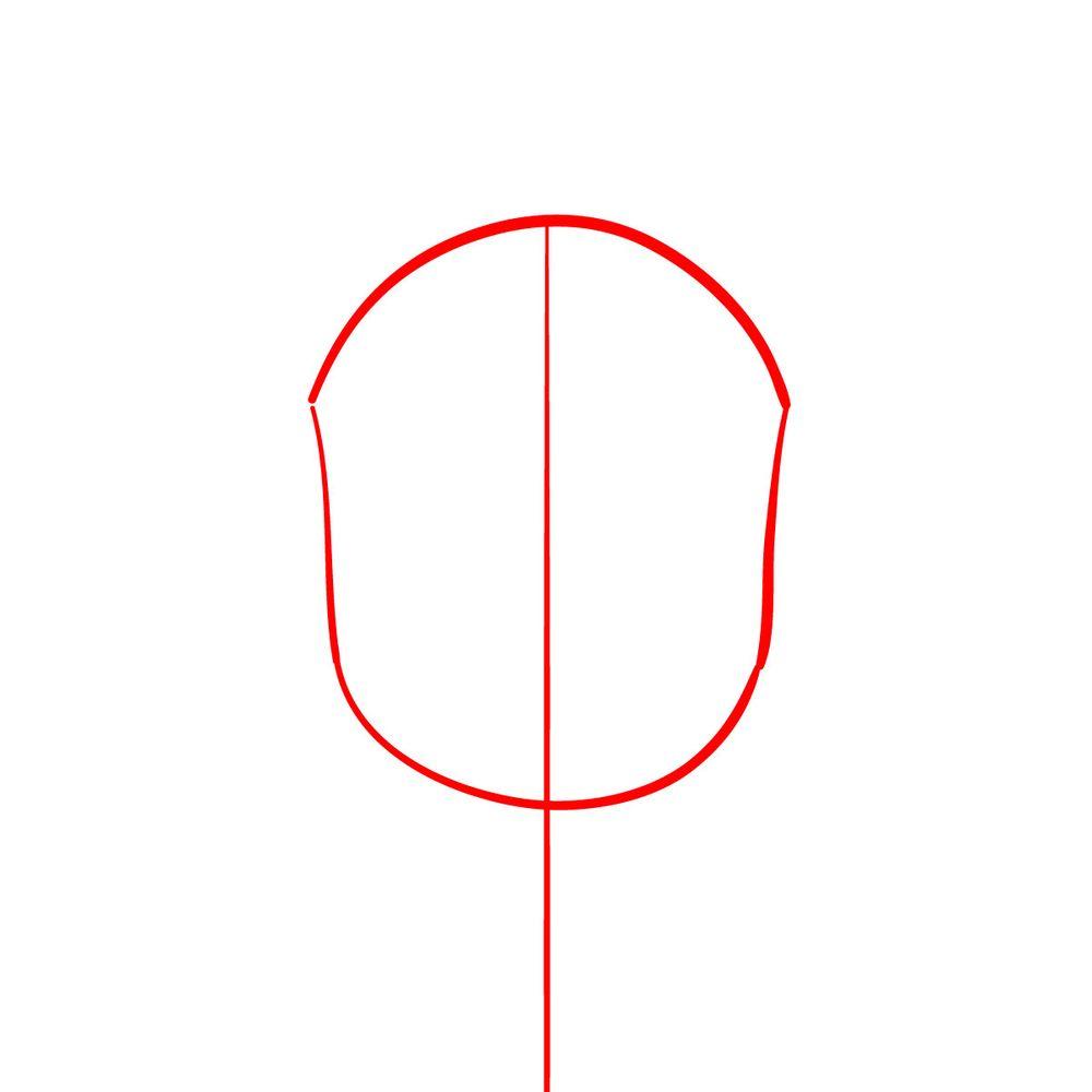How to draw Dawkins Dalmatian - step 01