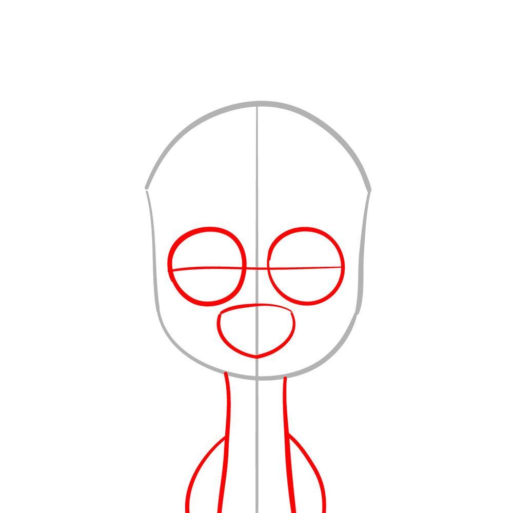 How to draw Dawkins Dalmatian - step 02