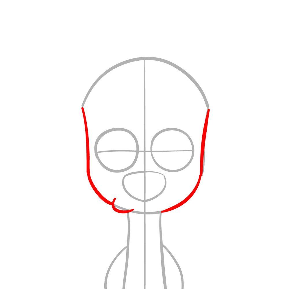 How to draw Dawkins Dalmatian - step 03