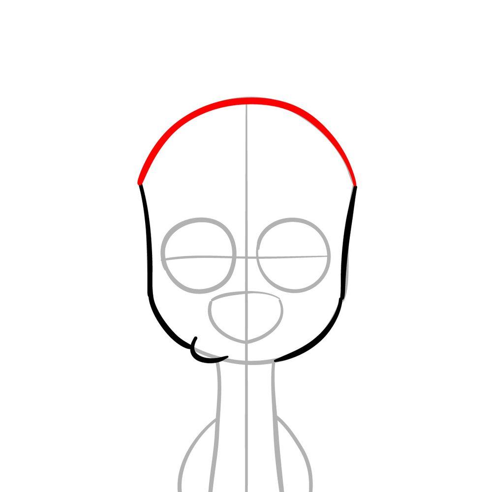 How to draw Dawkins Dalmatian - step 04