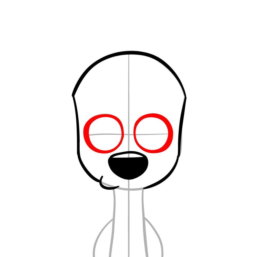 How to draw Dawkins Dalmatian - step 06